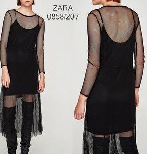 ZARA New Long Sheer Mesh Dress